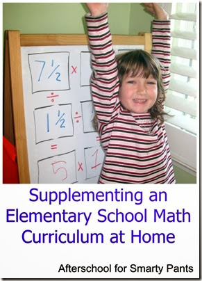 Supplementing an Elementary Math Curriculum at Home from Afterschool for Smarty Pants