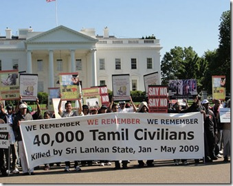 Tamil protest 40 000 killed