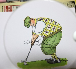 big guy golfingwith mag