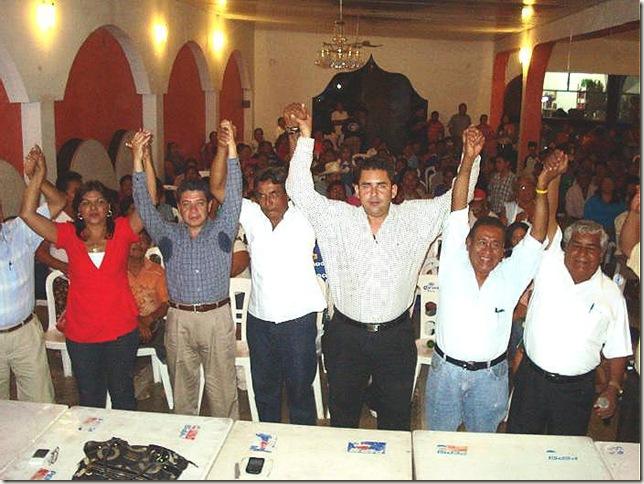 La Coalición Democratica Social que encabeza Jesús Vergara Meza revocó su apoyo al aspirante perredista Antonio Jaimes Herrera