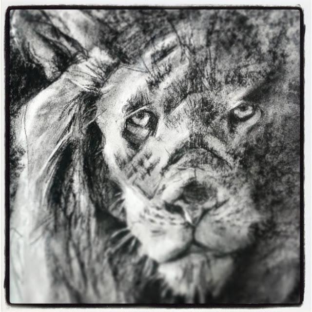 El leon a carbon de Jordi Alonso