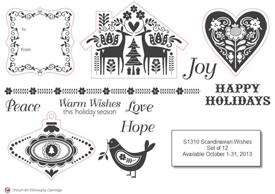 CTMH Oct 2013 Stamp of the Month-Scandinavian Wishes
