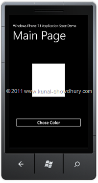 Main Page UI (WP7 Application State Management Demo)