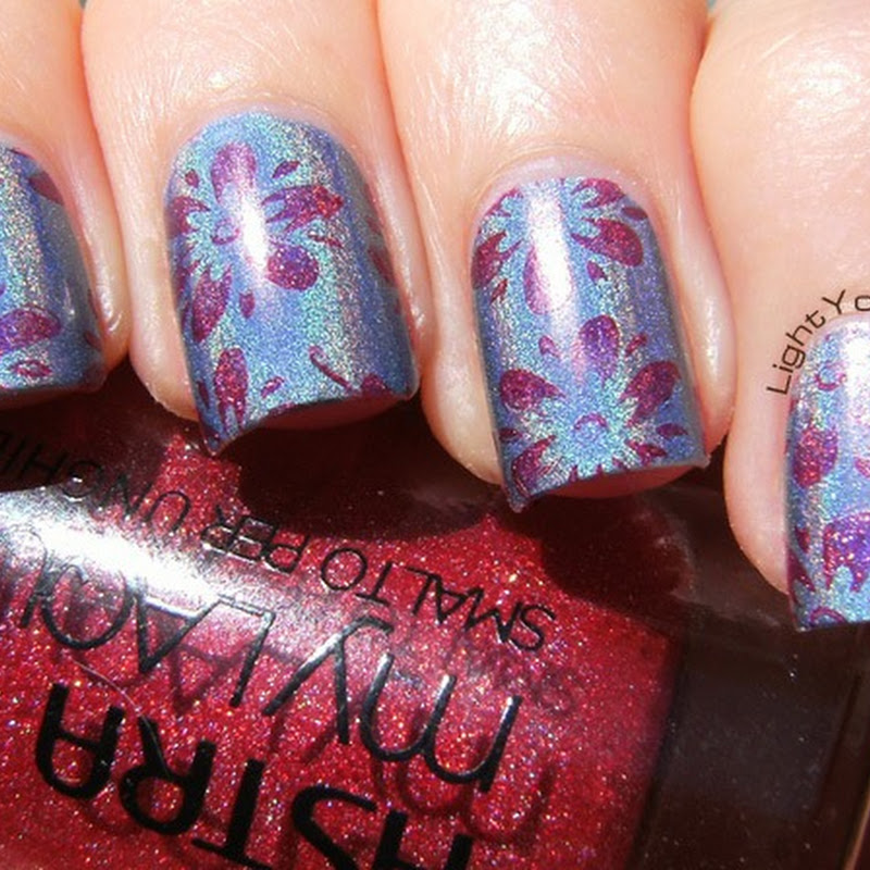 Stamping with QA16 plate and holos