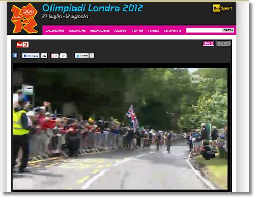 RAI Sport pagina dedicata alle Olimpiadi di Londra 2012