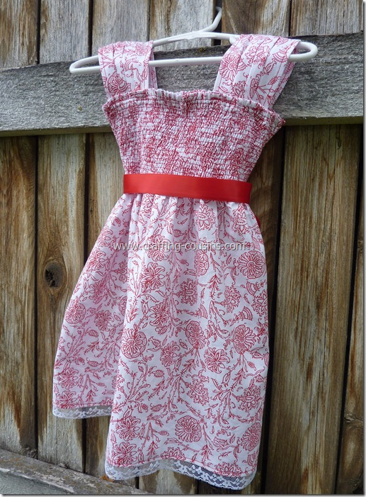 Shirred infant flower girl dress from the Crafty Cousins (39)