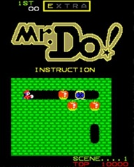 Mr. Do! Instruction Screen