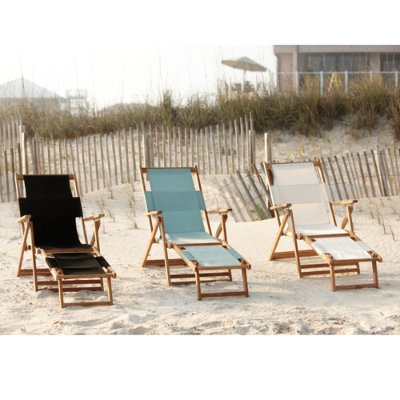 I love that these chic beach chairs come with a built in ottoman. No more sandy feet. (ballarddesigns.com)