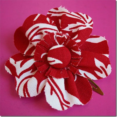 Fabric-Flower-Hair-Clip