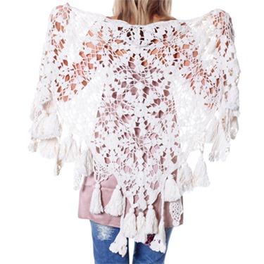 #603 Fay scarf silky white 1