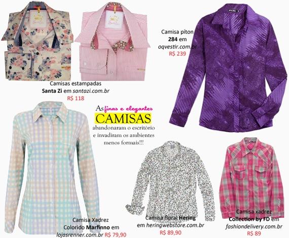 Onde comprar: Camisa xadrez feminina e outros modelos com estampas