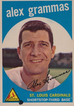 1959 Topps 6 Alex Grammas dark