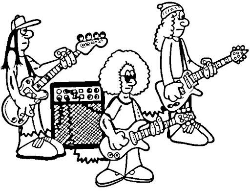 Desenho banda musica para colorir colorir e aprender for Rock band coloring pages