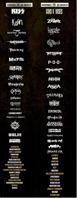 lineup boletos hell and heaven metal fest 2014