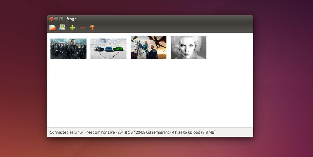 Frogr in Ubuntu