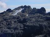 Puncak Jaya - peaks west of New Zealand Pass and remnant glacier (Robert Cassady, 2010)