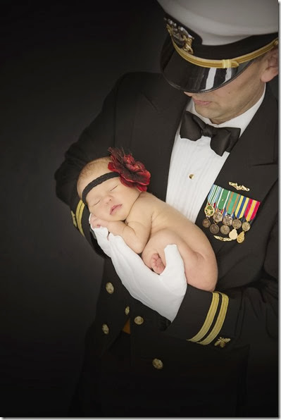 Newborn Photo - Military - Navy - Lindsey Dutra Photography