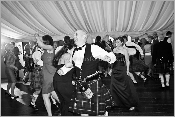 the dancing at a scottish wedding