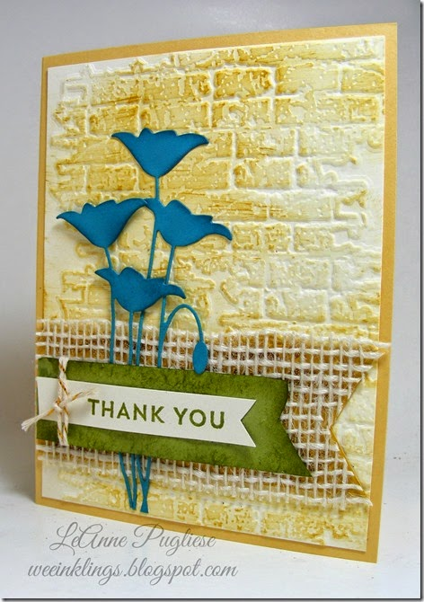 LeAnne Pugliese WeeInklings Stampin Royalty 243 Rustic Thank You Stampin Up