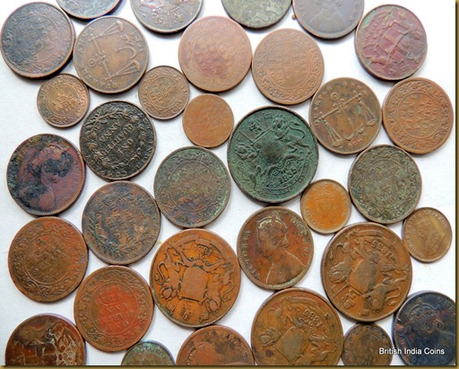 British India Coins - Average Condition of Copper and Brass Coins