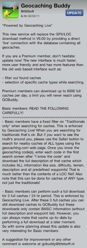 Geocaching Buddy 6.10
