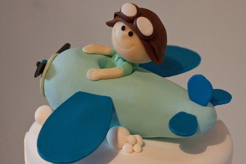 Airplane Birthday Cake-8