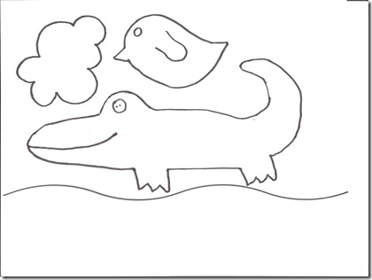 Alligator and Bird