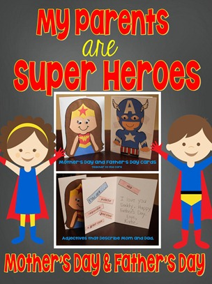 Super Hero Mother and Father's Day Cover