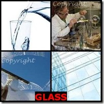 GLASS- 4 Pics 1 Word Answers 3 Letters