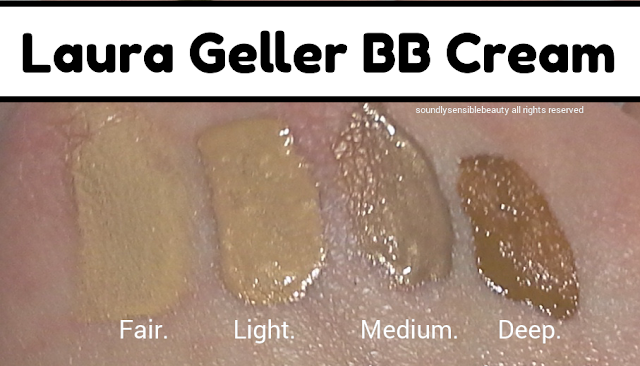 Laura Geller BB Cream Review & Swatches of Shades