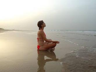imagen mujer en la playa