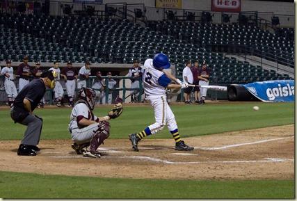 Payne at Whataburger field batting