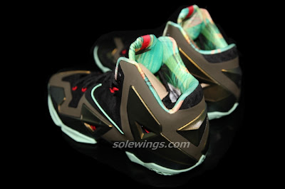 nike lebron 11 gr army slate 7 02 This LeBron XI is Parachute Gold/Arctic Green Dark Loden Black
