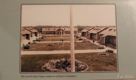 Lovelis Lake Camp from a display at Itasca State Park