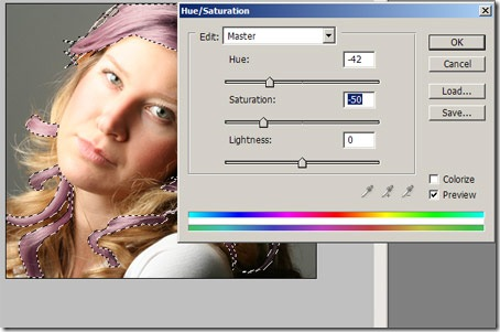 como mudar a cor dos cabelos no photoshop 6