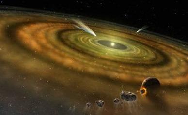 ilustração de cometas fora do Sistema Solar