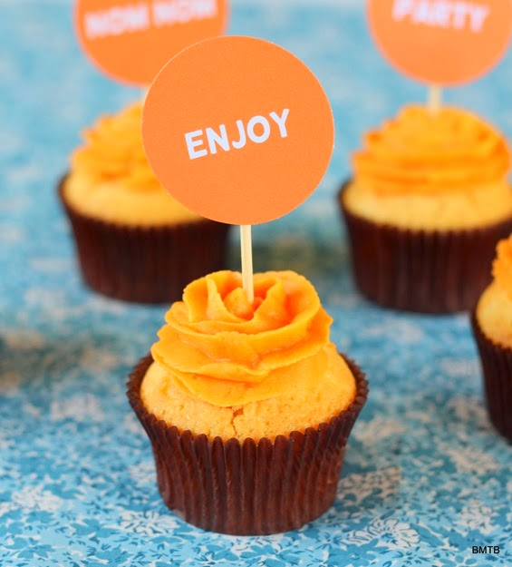 Orange Cupcakes by Baking Makes Things Better