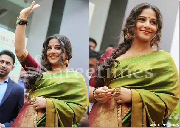 Vidya_Balan_Green_Traditional_Silk_Saree(1)