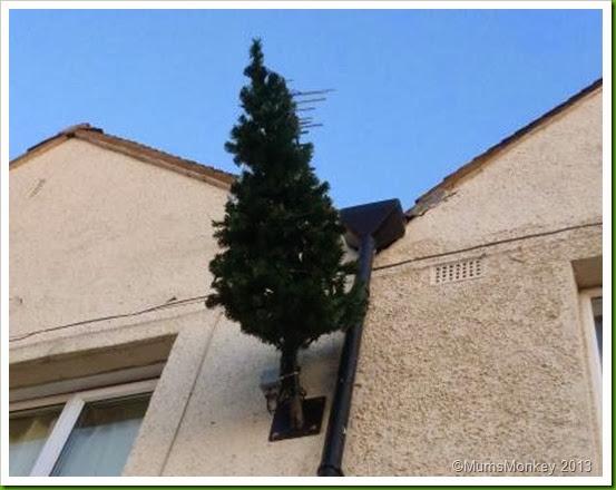 Christmas tree wall brackets