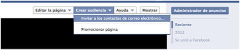 Invitar a los contactos de correo electrónico