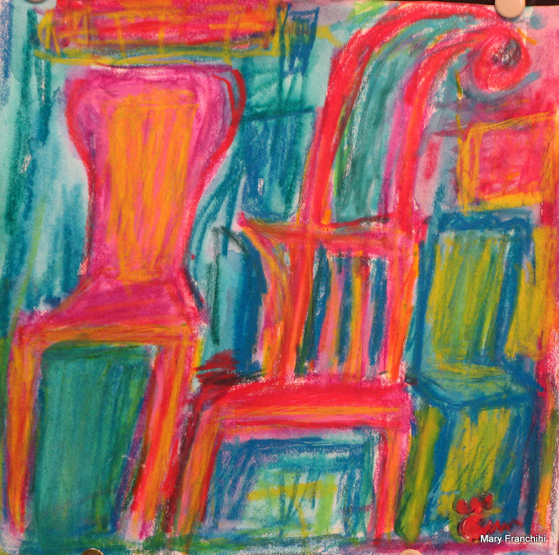 """Many Chairs"" WC Crayon"