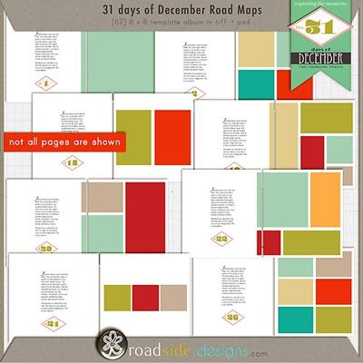31 days of december free album templates roadside designs