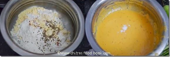 Chilli bajji/Milagai bajji stepwise pcitures