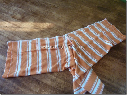 Make a pair of children's pajama pants from a tee shirt.  Check it out at Crafty Cousins (11)