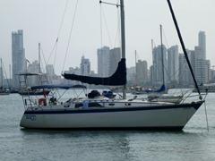 The Tango anchored in Cartagena.