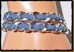 dobbel blått armbånd