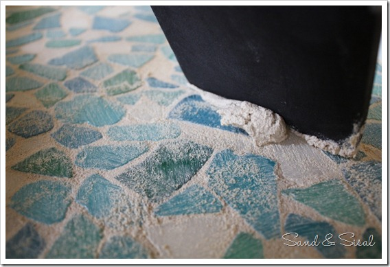 Removing Extra Grout from sea glass