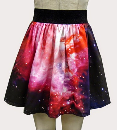 Nebula Full Skirt from Go Follow Rabbits on Etsy
