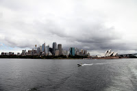 Looking back at the city from the Manly Ferry