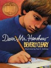 Dear Mr Henshaw